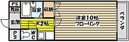 コウジィコート菅原[207号室]の間取り
