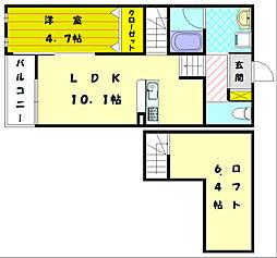 アルヴィータ手光I[2階]の間取り