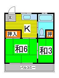 第2三井マンション[2階]の間取り