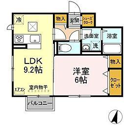 仮)D-roomよしわらA 1階1LDKの間取り