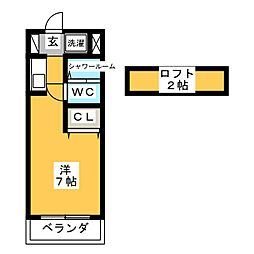 arr heights 平針[3階]の間取り