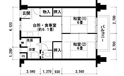 UR住吉団地[4階]の間取り
