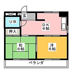 岩津マンション[3階]の間取り