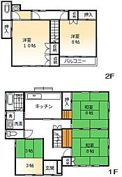 [一戸建] 茨城県日立市鹿島町2丁目 の賃貸【/】の間取り