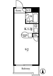ラ・レジダンス・ド・エスパリエ[2階]の間取り