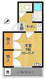 ハイツNAKANO[203号室]の間取り