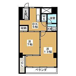 パラシオン覚王山[3階]の間取り