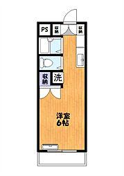 ベルハイム中川[304号室]の間取り