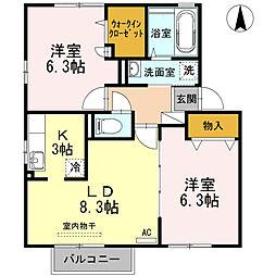 ドライ・カッツェンA棟[A202号室]の間取り