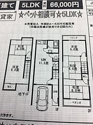 [一戸建] 大阪府寝屋川市寝屋2丁目 の賃貸【/】の間取り