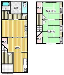 [テラスハウス] 大阪府堺市北区百舌鳥本町1丁 の賃貸【/】の間取り