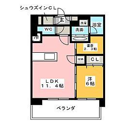 アデグランツ大須[14階]の間取り