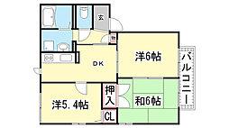 ディアス甲栄台[C-201号室]の間取り
