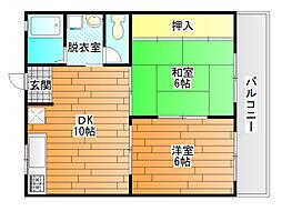 ハイツ松本[2階]の間取り