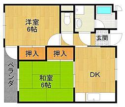 平塚ハイツ[1階]の間取り