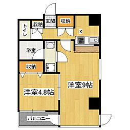 パインベルテ2[3階]の間取り