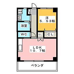 アドバンスM[3階]の間取り