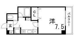兵庫県神戸市長田区腕塚町4丁目の賃貸マンションの間取り