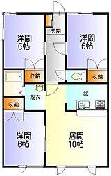 シャローム永山[203号室]の間取り