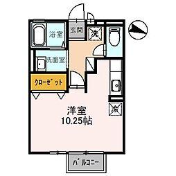 埼玉県富士見市ふじみ野東2丁目の賃貸アパートの間取り