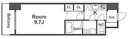 Osaka Metro御堂筋線 淀屋橋駅 徒歩5分の賃貸マンション 3階1Kの間取り