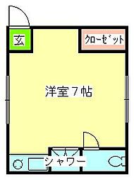 シャトル駒川[4階]の間取り