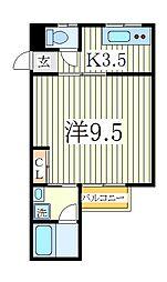 東初石アイビーハイツ[2階]の間取り