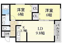 北海道札幌市東区北19条東19丁目の賃貸マンションの間取り