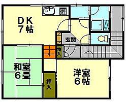 北海道小樽市若松1丁目の賃貸アパートの間取り