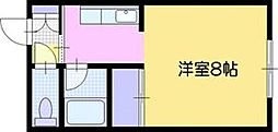 コーポ尾田[3階]の間取り