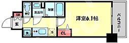プレサンス天神橋筋六丁目ヴォワール 8階1Kの間取り