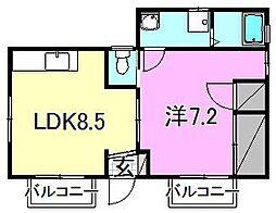 ロハス古川南[201 号室号室]の間取り