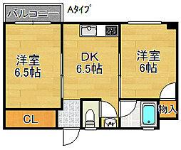 住之江マンション[2階]の間取り