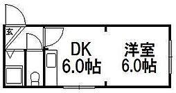 北海道札幌市中央区南六条西15丁目の賃貸マンションの間取り