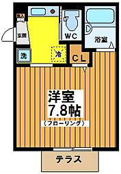 ファミール和泉[1階]の間取り
