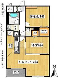 愛知県名古屋市瑞穂区岳見町4丁目の賃貸アパートの間取り