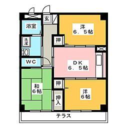 メゾン樹庭夢[3階]の間取り