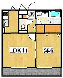 茨城県日立市中成沢町3丁目の賃貸アパートの間取り