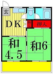 中島荘[2階]の間取り