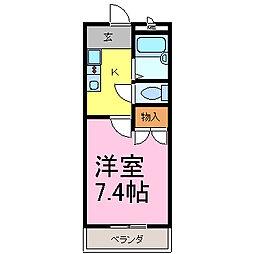 メルベーユHAJI[3階]の間取り