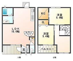 グランパルモF A棟[2階]の間取り