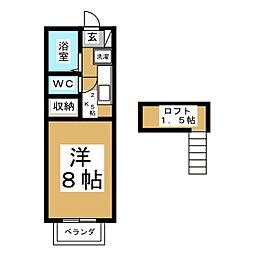 宮城県仙台市青葉区南吉成7の賃貸アパートの間取り