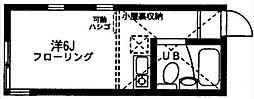 神奈川県川崎市幸区遠藤町の賃貸アパートの間取り