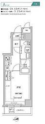 都営新宿線 住吉駅 徒歩10分の賃貸マンション 4階1Kの間取り