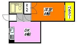 OMレジデンス八戸ノ里 306号室[3階]の間取り