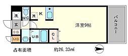 プレサンス京大東[5階]の間取り