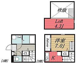 JR内房線 本千葉駅 徒歩7分の賃貸アパート 1階1Kの間取り