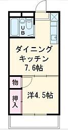 マリンピア茅ヶ崎[204号室]の間取り