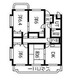 ユーミーサンライズ[3階]の間取り