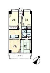 サニーヒル石川3[1階]の間取り